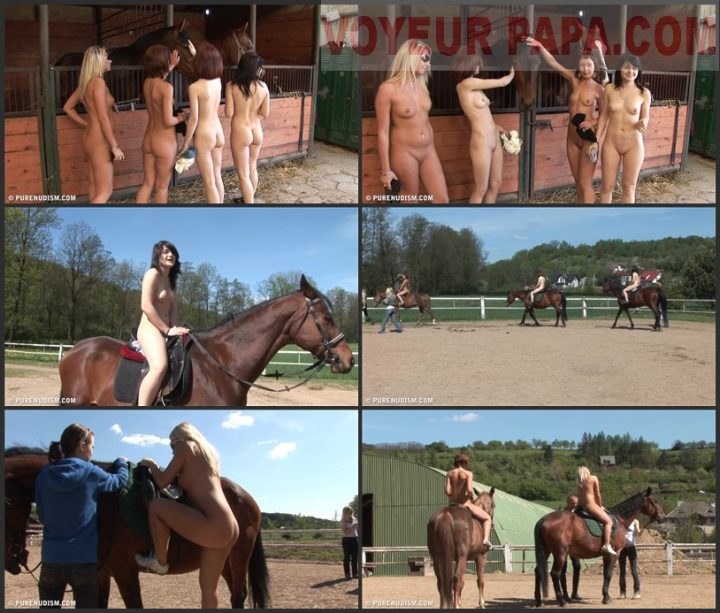 Family Pure Nudism Horseriding At A Barn 1