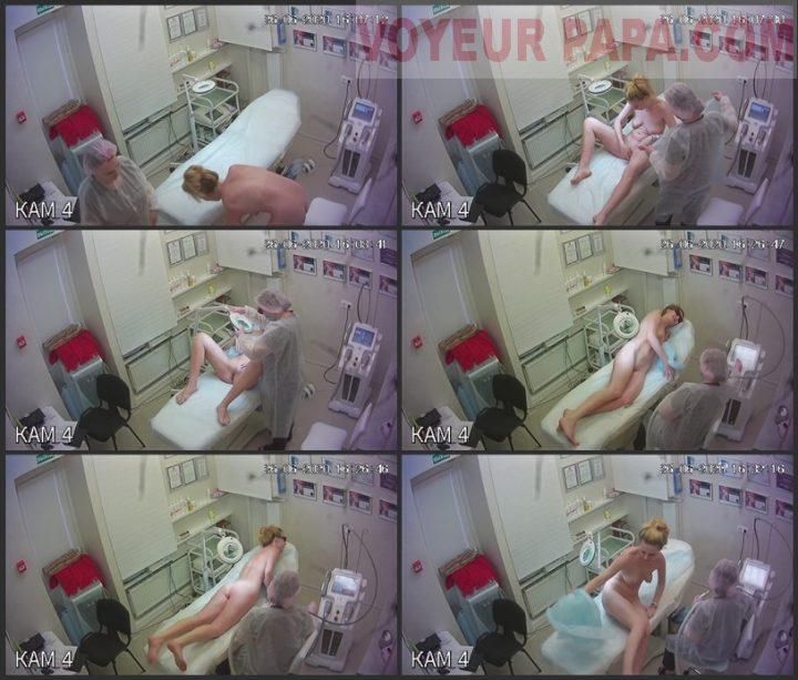 Hidden camera in depilation salon 10