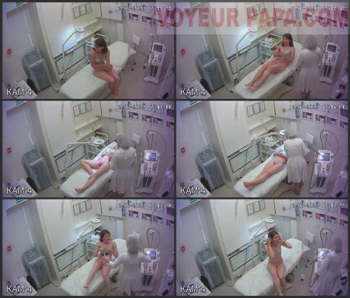 Hidden camera in depilation salon 11