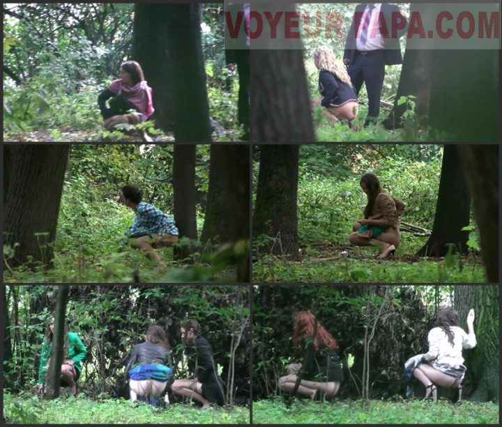 Girls pee in the park at the wedding 2