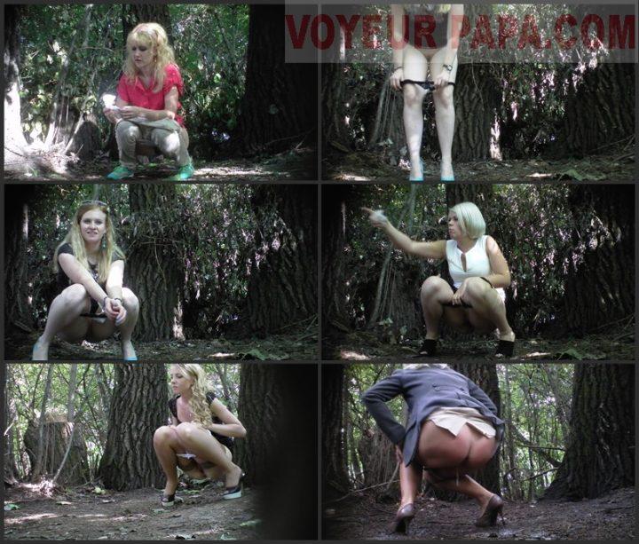 Women pee in the park (1)